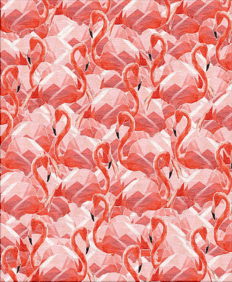 Flamingos rug by Illulian Gemini