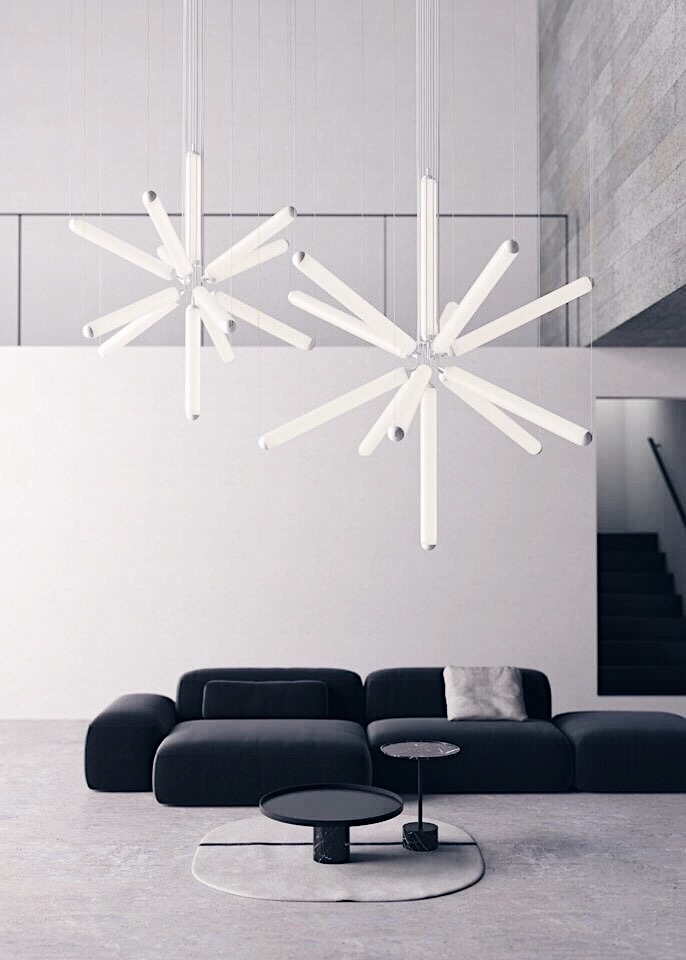 Puro Sparkle chandelier by Brokis Lighting