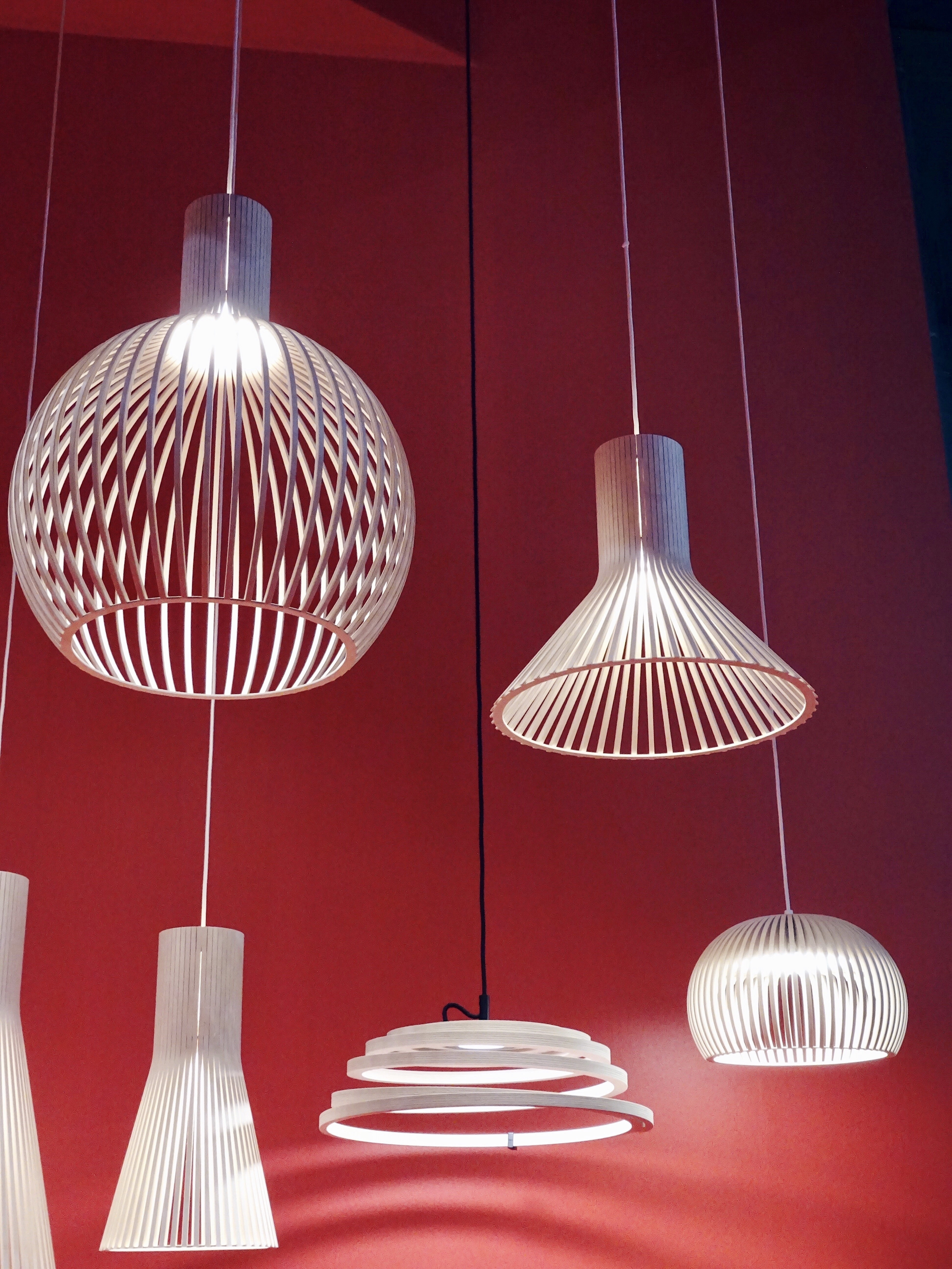 Plywood pendants by Secto Design