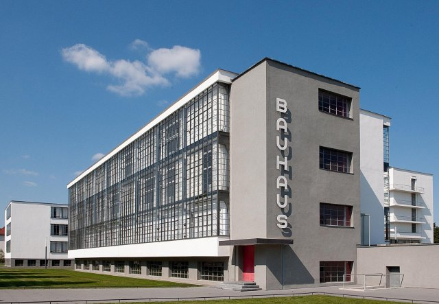 The original Bauhaus School in Dessau by Walter Gropius