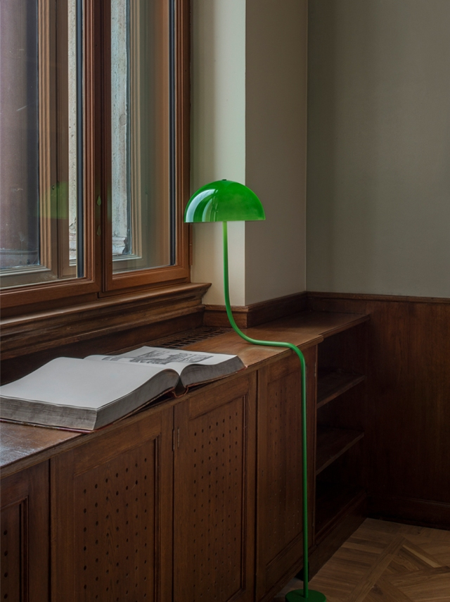 The Curve lamp by Front designed for the Nationalmuseum Library in Stockholm