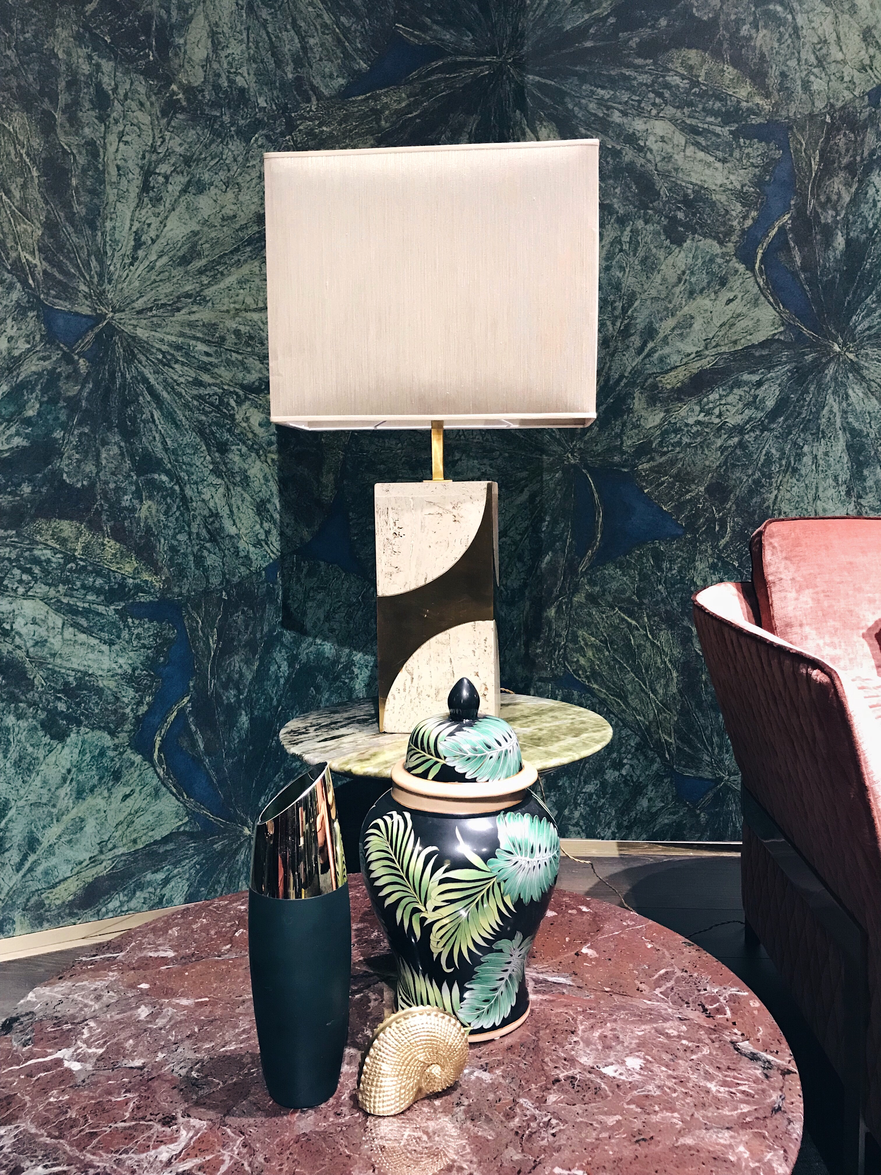 marble side table by Opera Contemporary Salone del Mobile