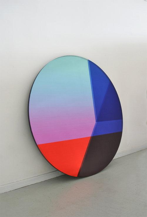 'Seeing Glass' round mirror by Sabine Marcelis and Brit van Nerven