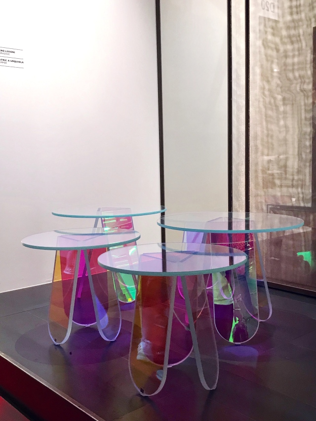 The Shimmer tables by Patricia Urquiola for Glas Italia
