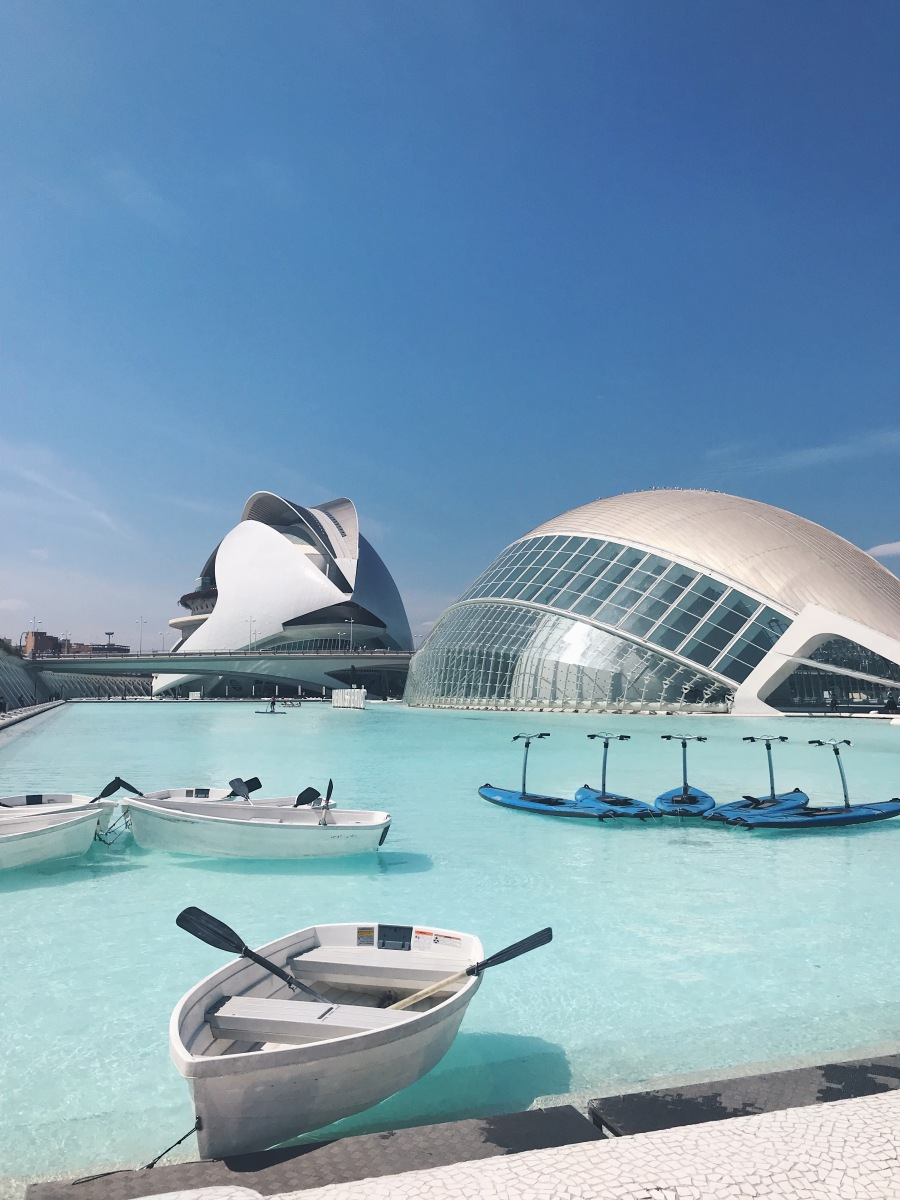 The City of Arts and Sciences in Valencia by Santiago Calatrava