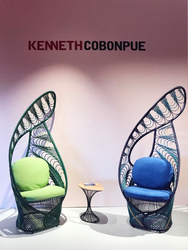 Peacock chairs by Kenneth Coponbue